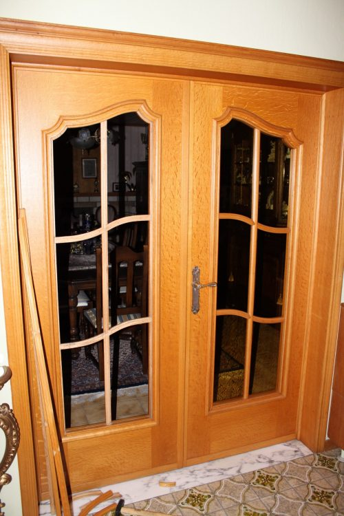 Fitting an Art Glass in existing doors